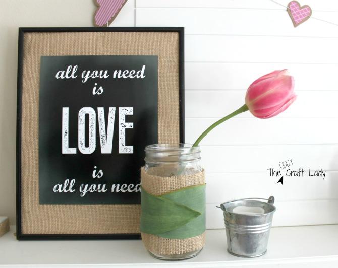 Free Chalkboard Valentine's Printable