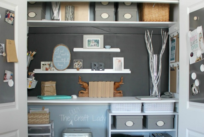 Home Office in a Closet – How to make the most of a little bit of space