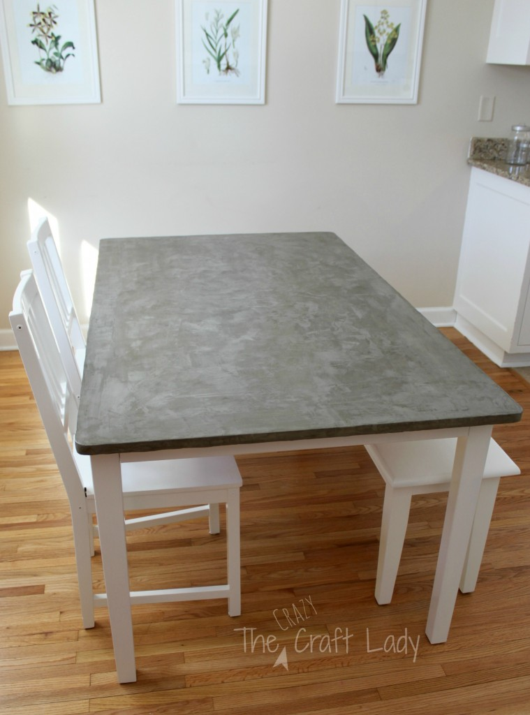 Charmant DIY Concrete Dining Table Top Using Henry FeatherFinish   Full Tutorial  From The Crazy Craft Lady