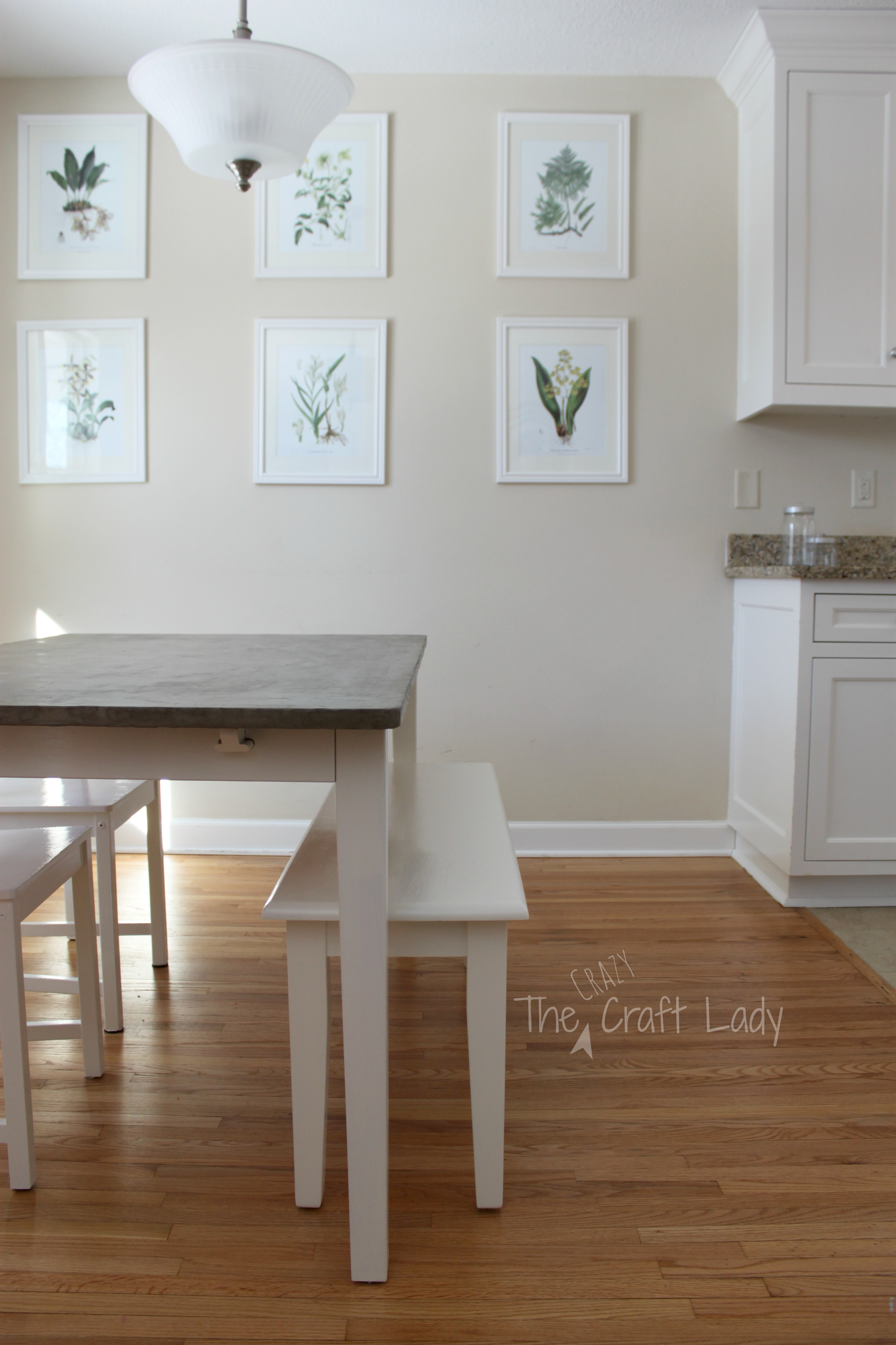 DIY Concrete Dining Table Top and Dining Set Makeover The Crazy Craft Lady