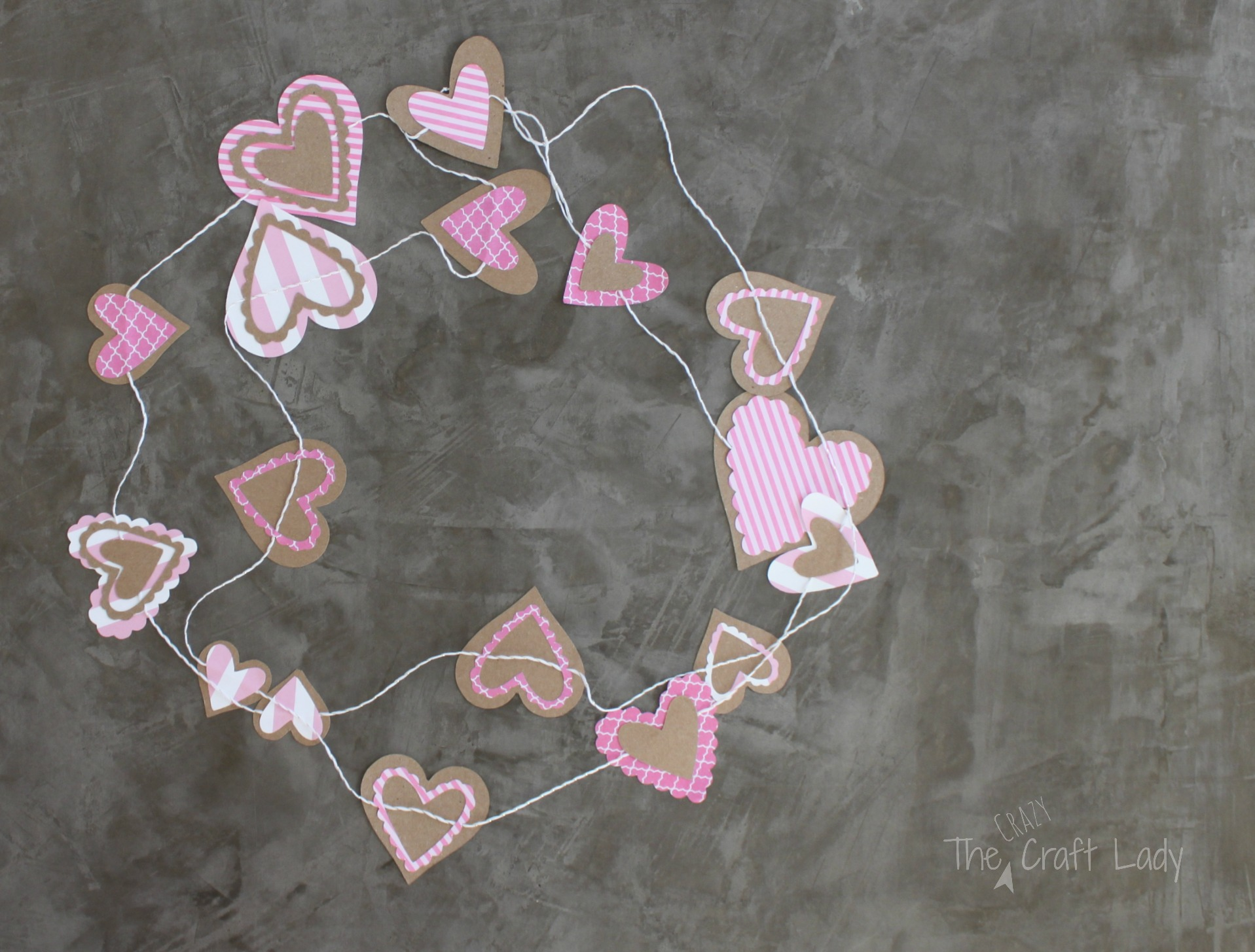 Valentine Garland Paper Craft