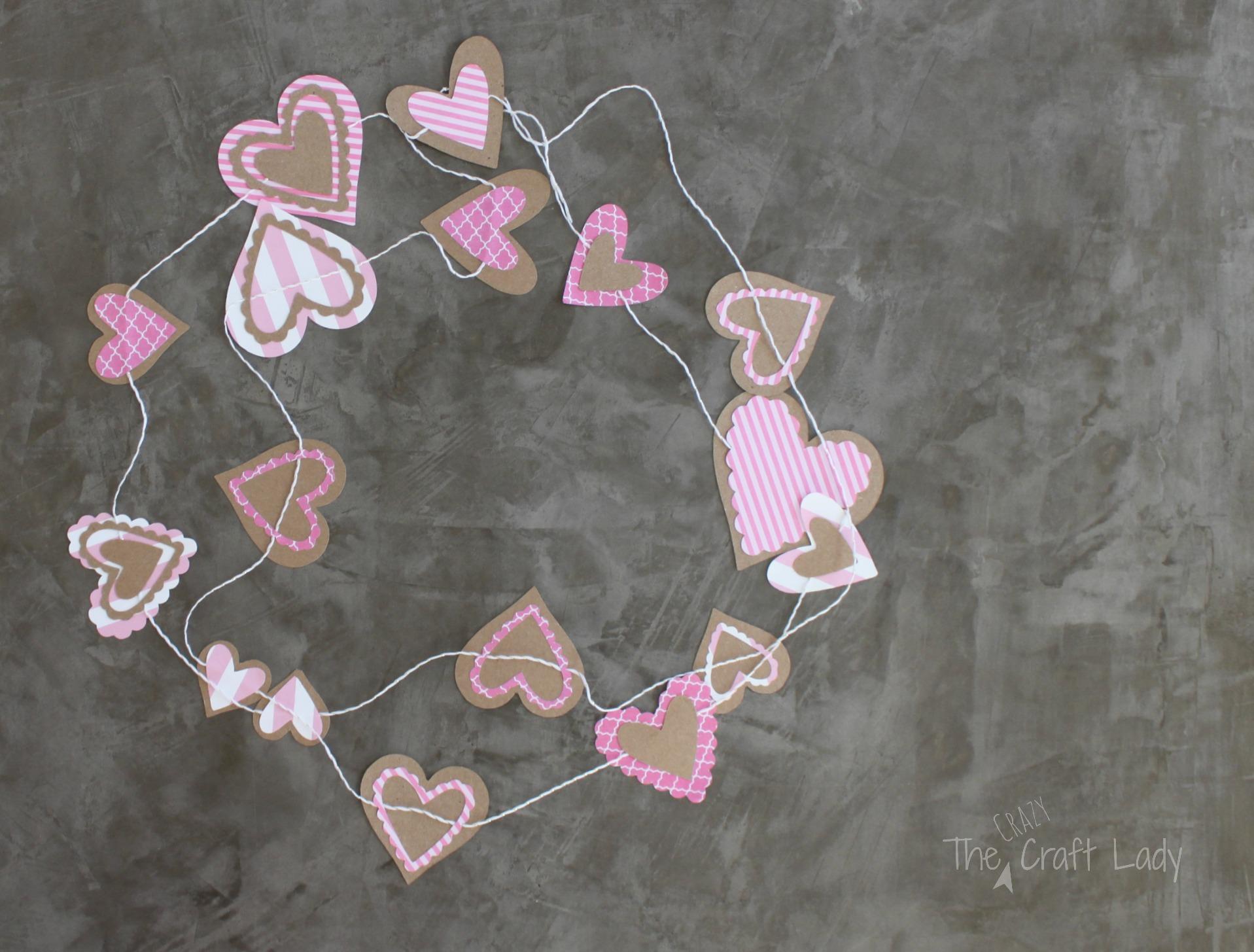 Valentine Garland Paper Craft