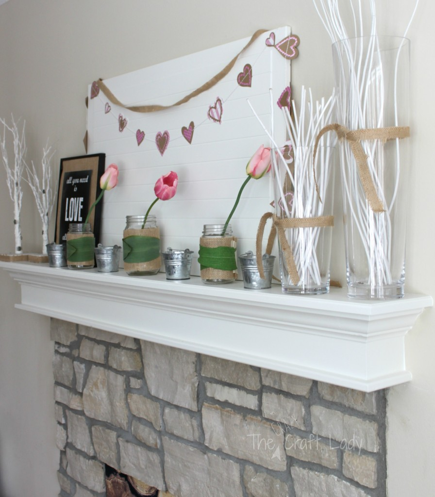 A Spring-Inspired Valentine's Mantle