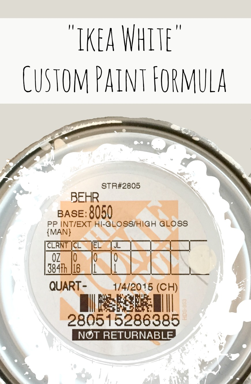 Ikea White Custom Paint Formula From Behr At The Home Depot   Perfect For  DIY Furniture