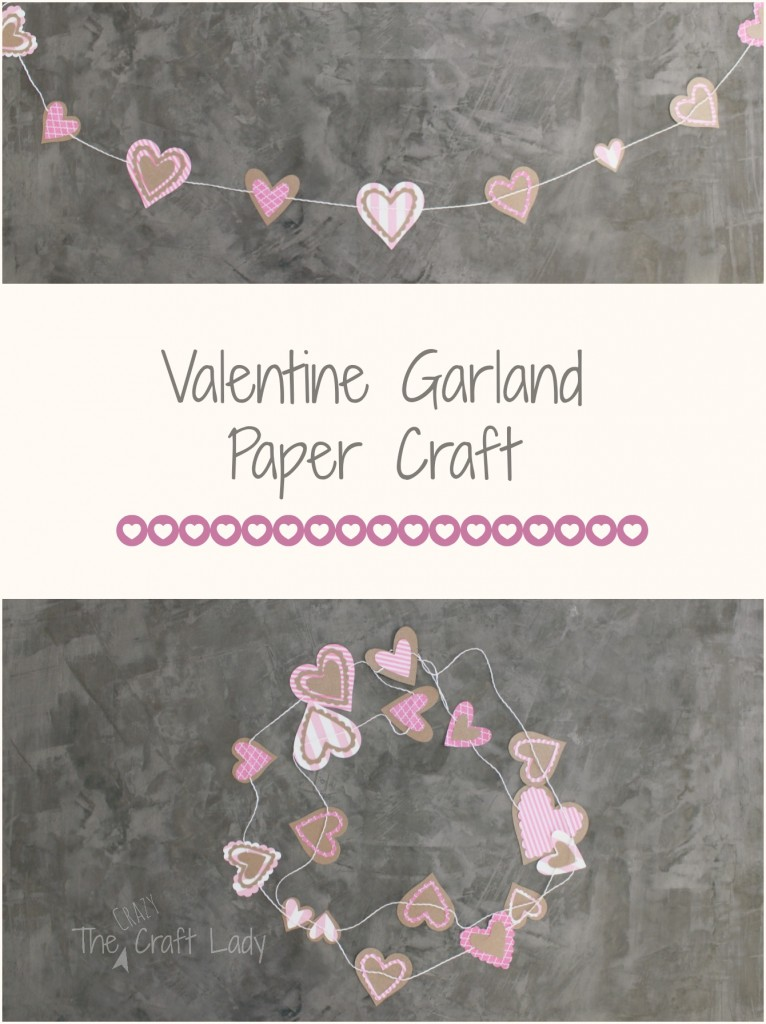 Valentine Garland Paper Craft from The Crazy Craft Lady | Your Turn to Shine Link Party Feature on anderson + grant