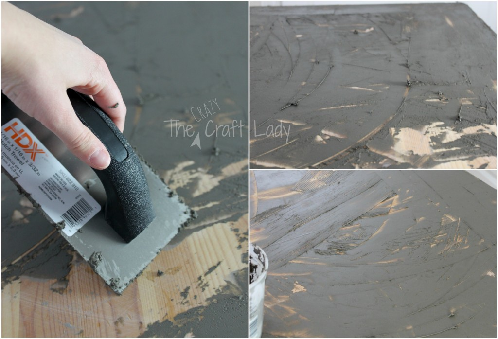 DIY Concrete Table Tops - a tutorial