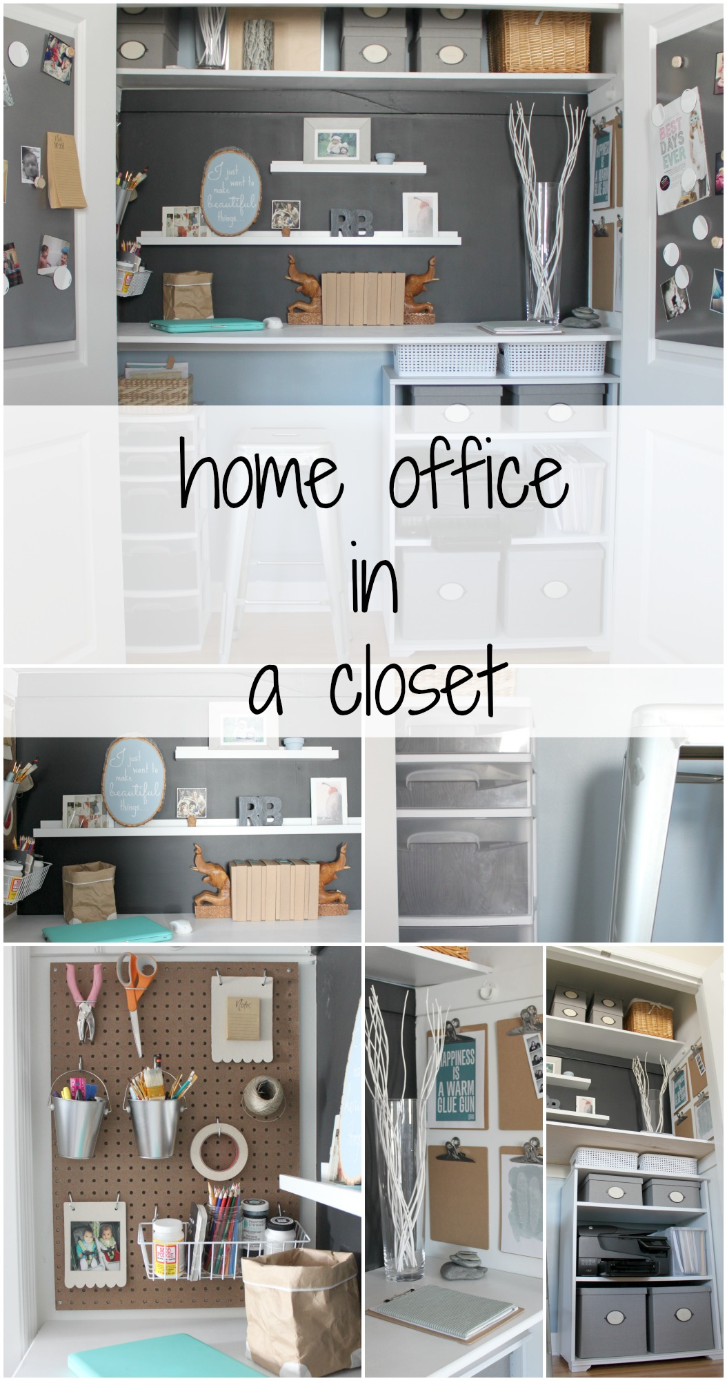 home office in a closet. Home Office In A Closet Tour - The Crazy Craft Lady