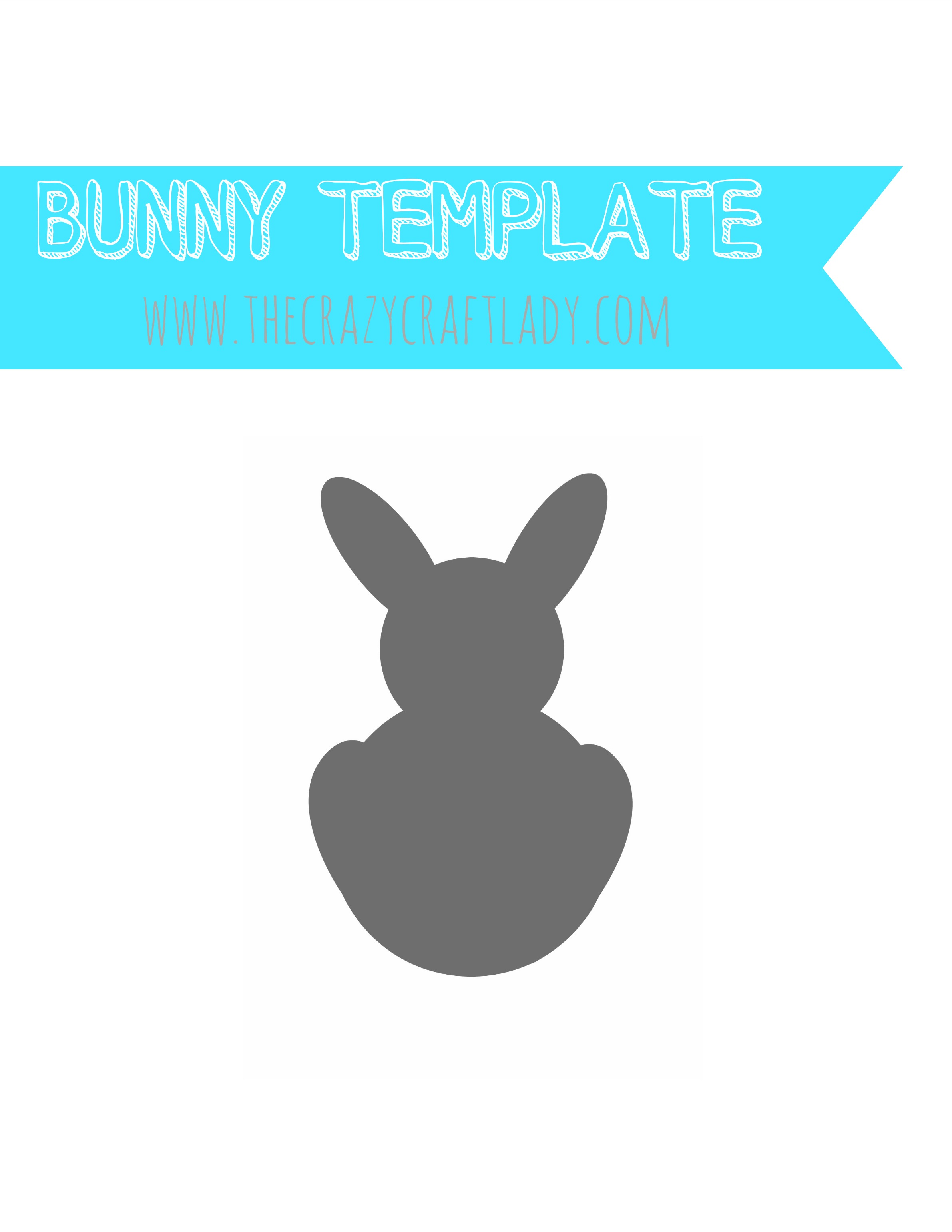 simple easter bunny garland pb inspired the crazy craft lady