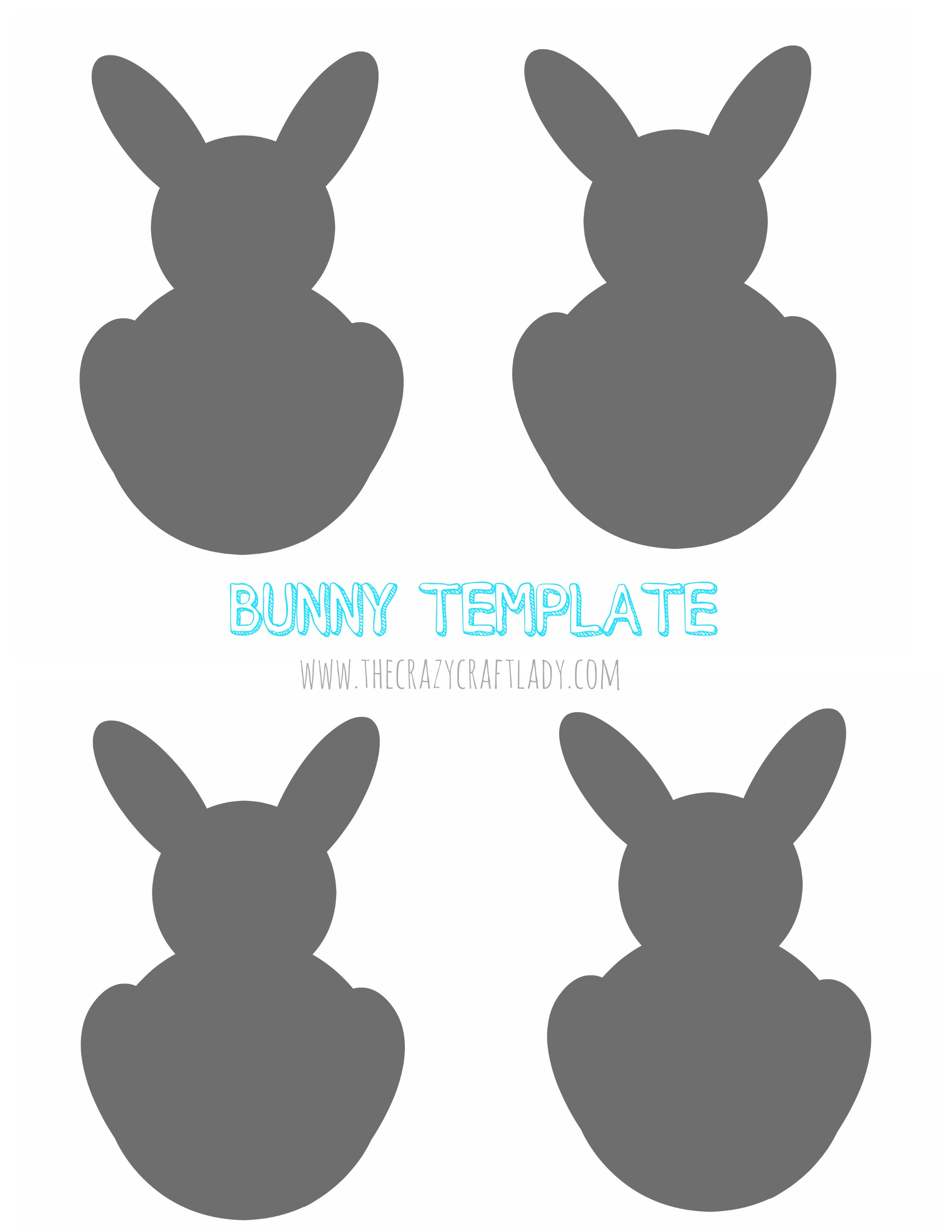 graphic regarding Easter Bunny Printable Template named Basic Easter Bunny Garland PB-Impressed - The Ridiculous Craft Girl