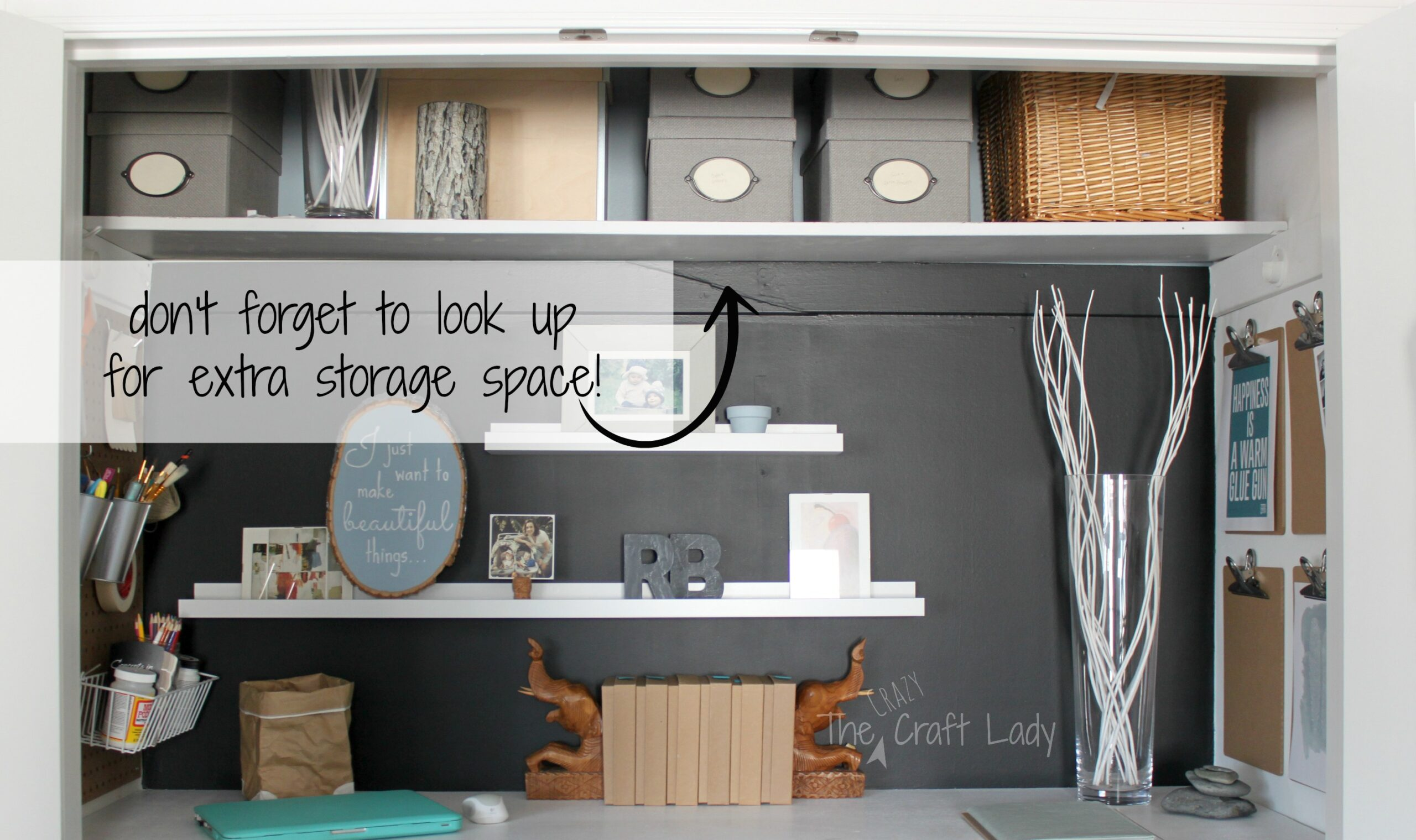 Cheap Bedroom Organization Ideas Remodelaholic Making An Organized Closet Office Craft Space