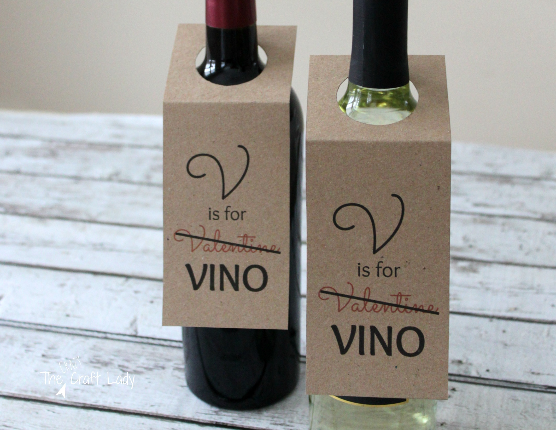 valentine wine tags the crazy craft lady