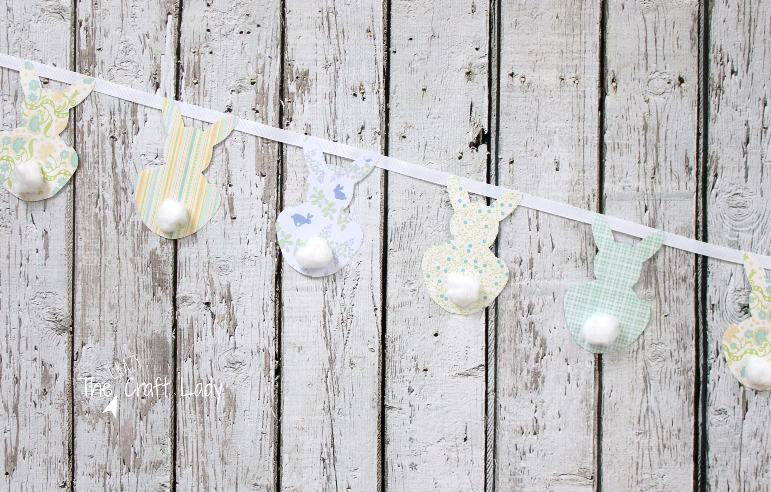 Simple Easter Bunny Garland Pb Inspired The Crazy