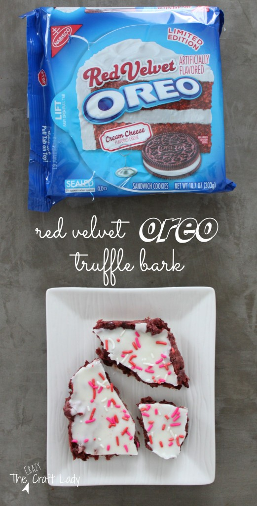 Red Velvet Oreo Truffle Bark