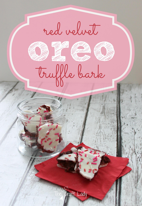 Red Velvet Oreo Truffle Bark - The Crazy Craft Lady