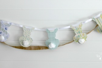 Simple Easter Bunny Garland {PB-Inspired}