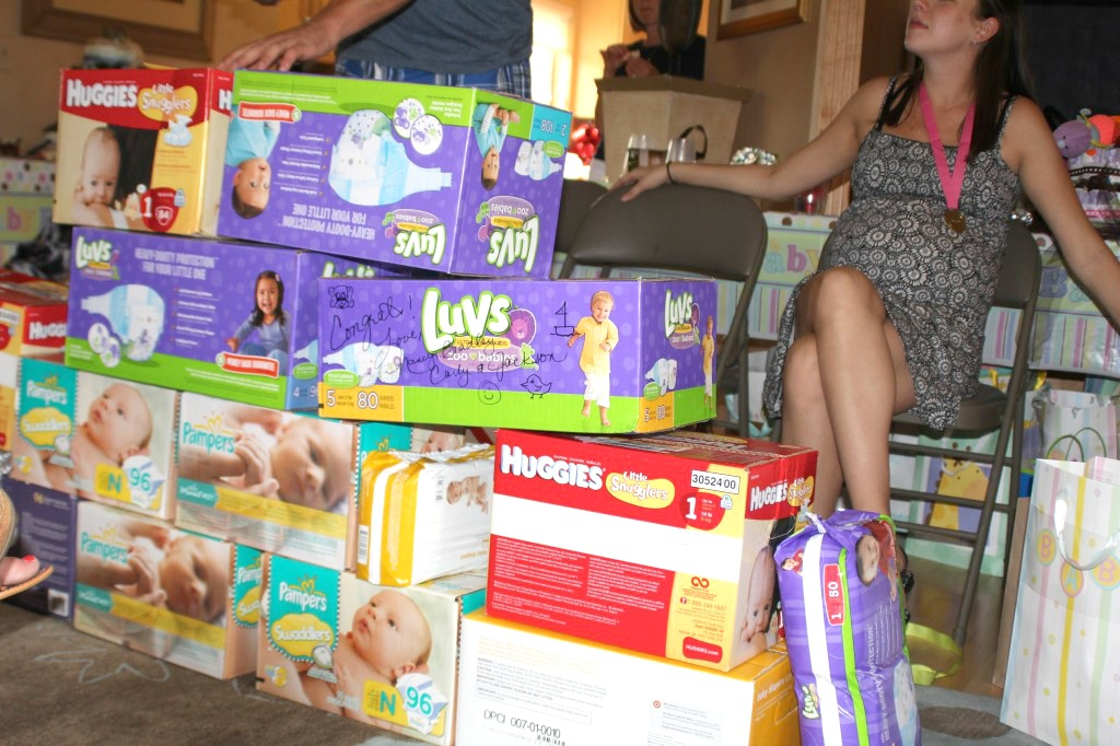 "Our Diaper Party ""Diaper Stash."""