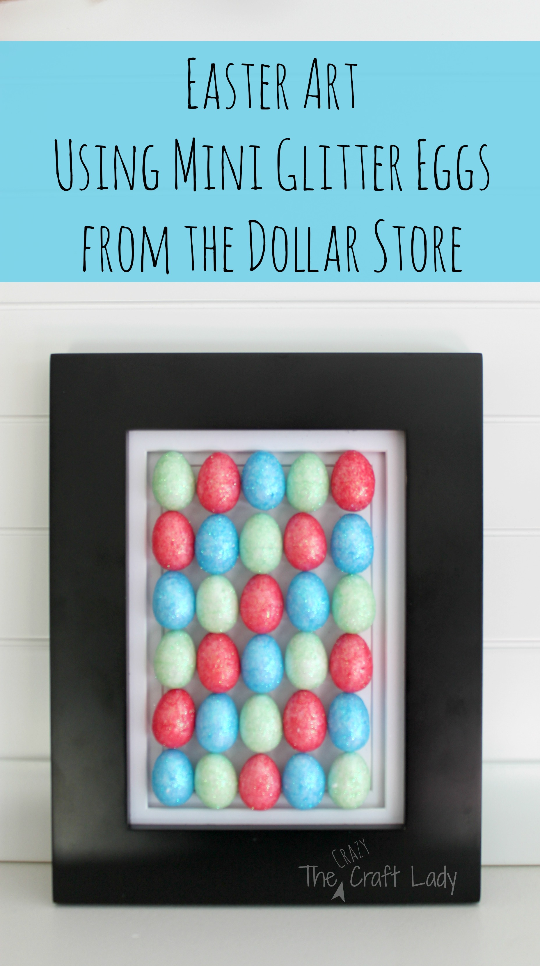 Easter Egg Art {A Dollar Store Craft}