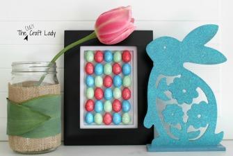 Easter Egg Art {A Dollar Store Craft}