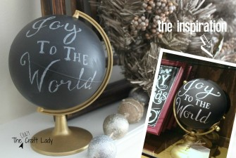 "PB-Inspired ""Joy to the World"" Globe"