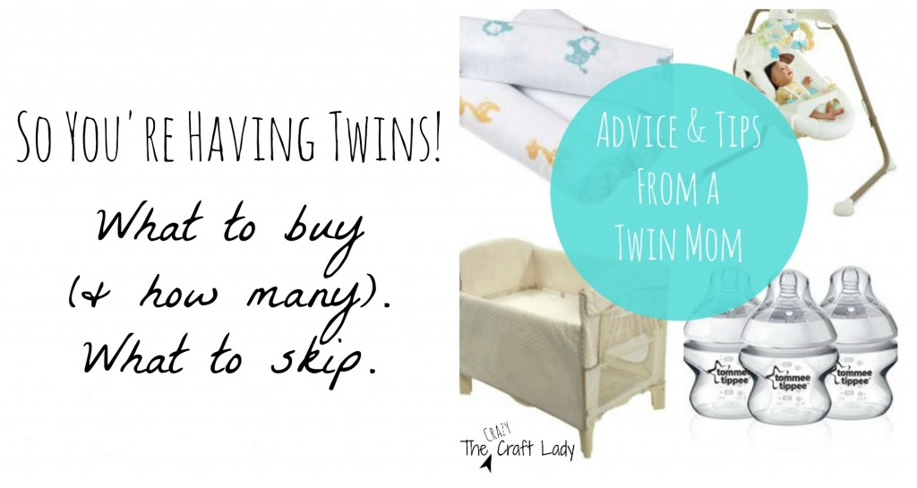 Are you (or someone you know) expecting twins? A mom of twins who has been there & done that shares her tips, tricks, and reflections on what you REALLY need to buy before bringing home two newborns. A multipart blog series with reviews & a FREE printable registration checklist.