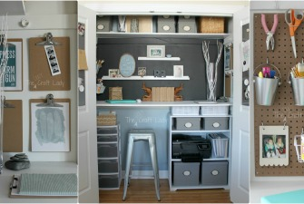 Closet Office & Remodelaholic Feature