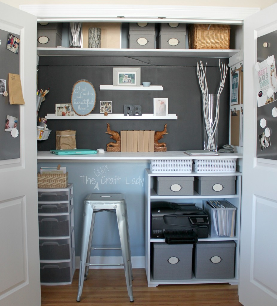 Home Office In A Closet From The Crazy Craft Lady. Tons Of Organized Storage  Solutions