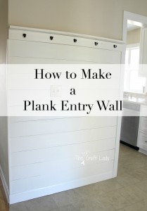 How to Make a Plank Enrty Wall - with this easy tutorial, anyone can install an amazing plank wall