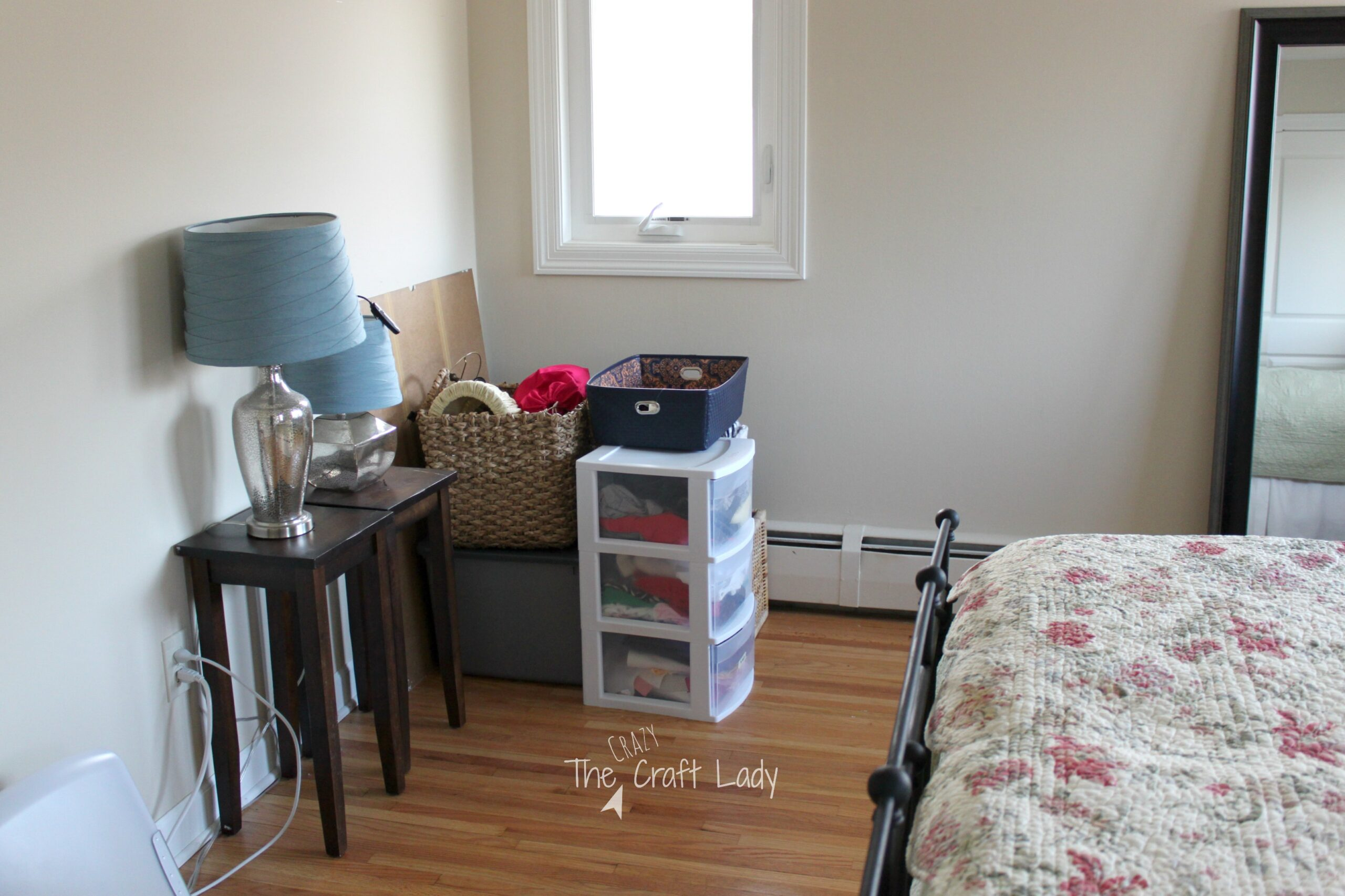 e Room Challenge Bedroom Makeover The Crazy Craft Lady