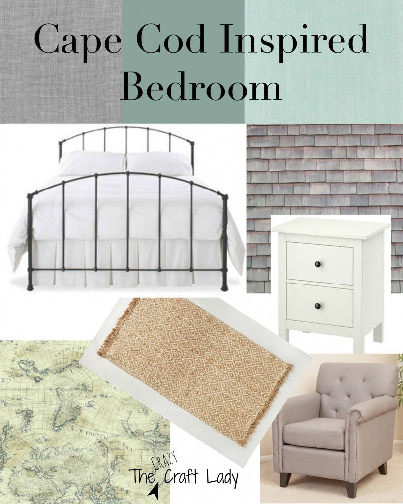 Mood Board for a Cape Cod inspired master bedroom