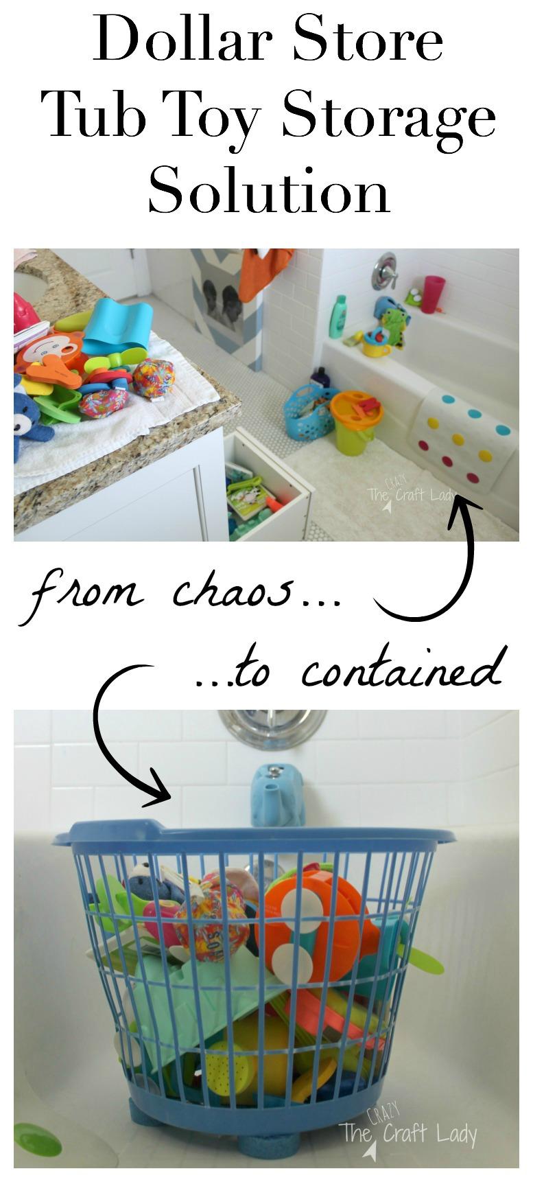 Toys Under A Dollar : Tub toy storage solution the crazy craft lady