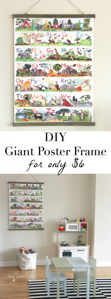 How to make a large poster frame for only $6! This is a super-easy tutorial for making a custom frame... with an amazing tip to keep your poster from ripping!