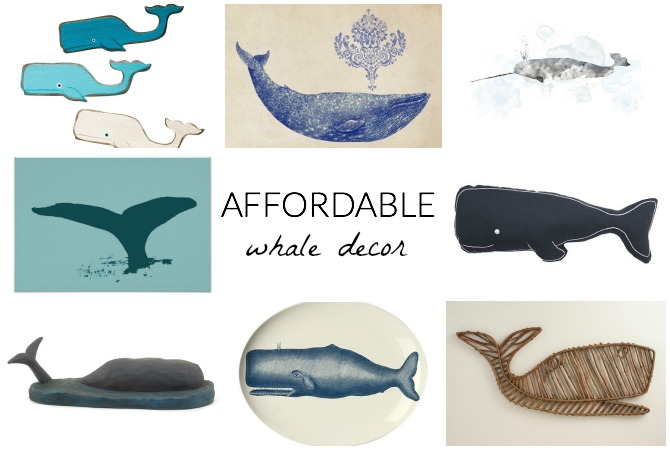 Affordable Whale Decor