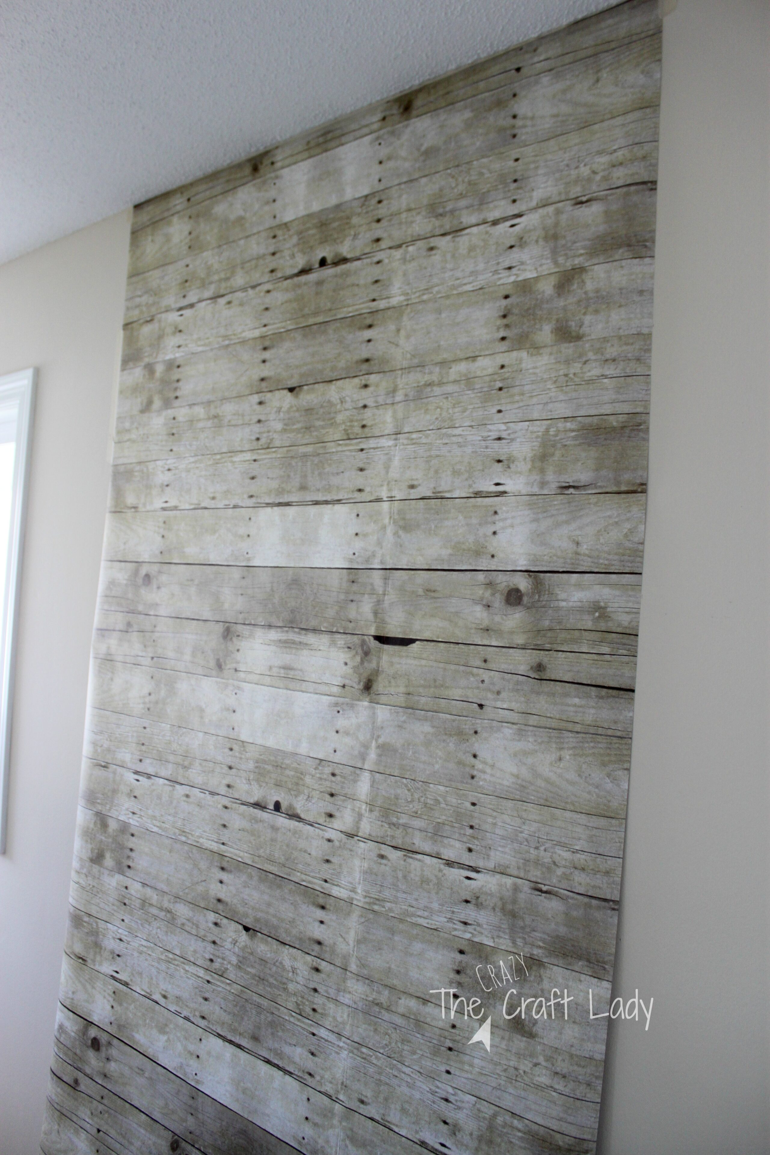 A Rental Friendly Solution For Plank Walls The Crazy