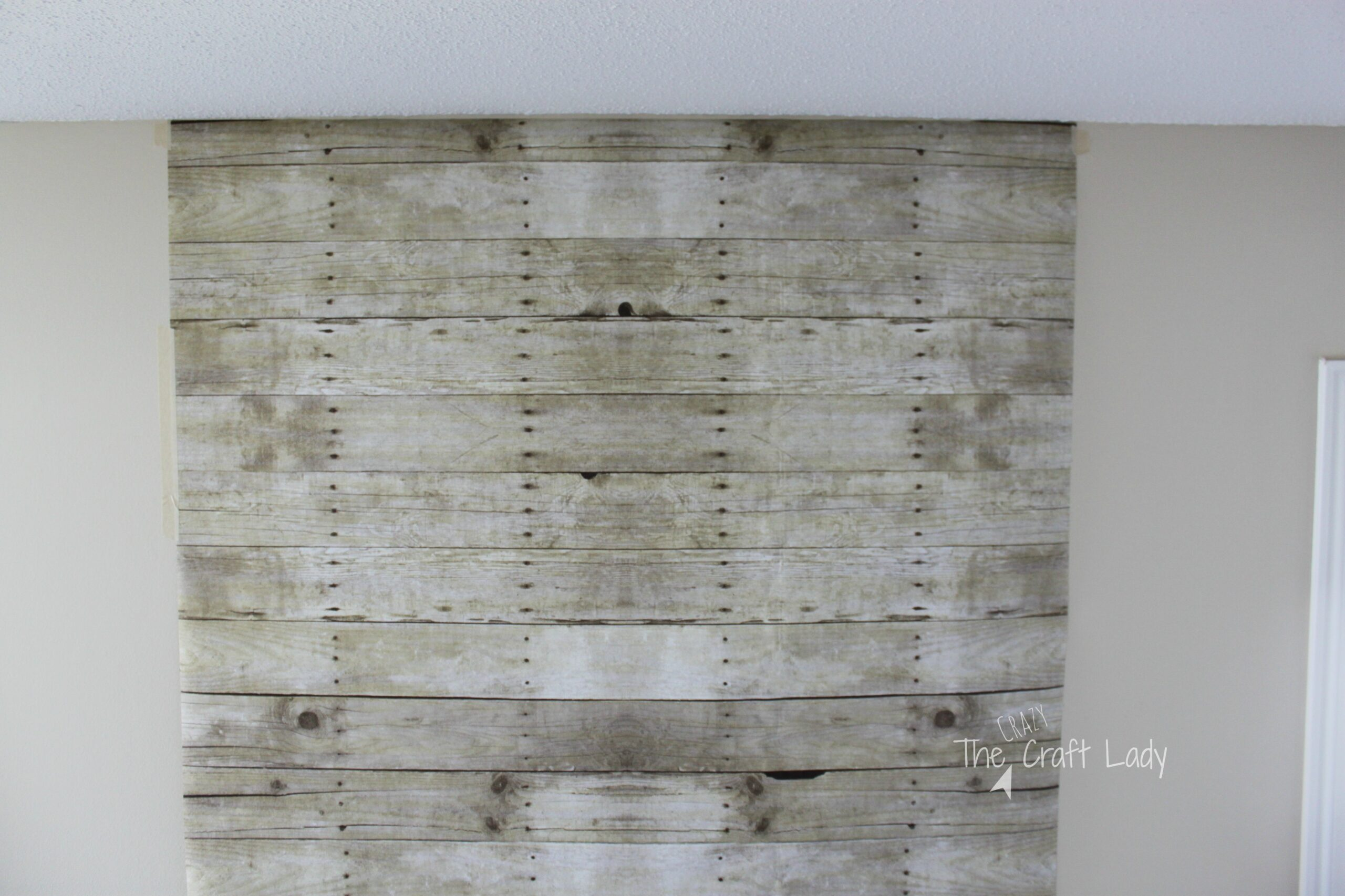 Very best A Rental-Friendly Solution for Plank Walls - The Crazy Craft Lady PS81