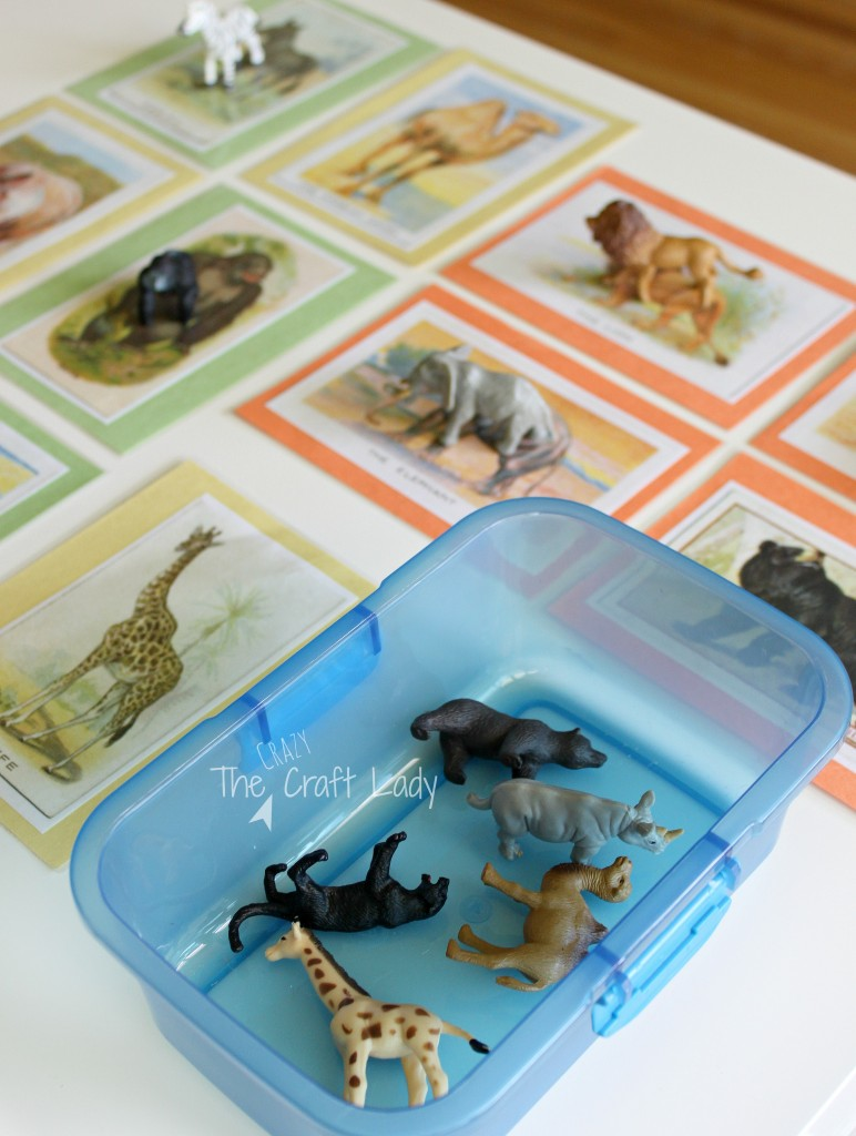 Download and print these FREE vintage animal cards to make a matching game for your toddler. Match the animal figurine to the vintage animal card. What a fun educational game to make for your child!