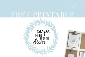 Carpe the Hell out of this Diem – Printable and Desktop Wallpaper