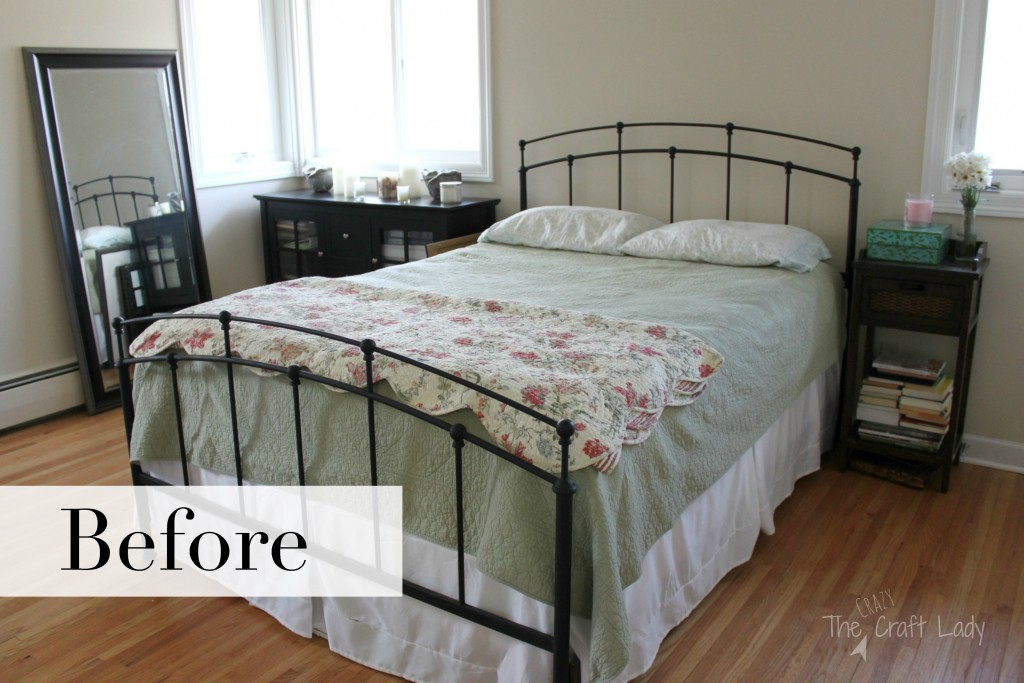 Before: This is a beautiful Cape Cod coastal inspired master bedroom full of TONS of DIY and affordable home decor projects. A peaceful retreat and organized space.
