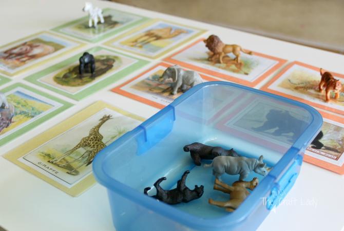Animal Figurine Matching Game