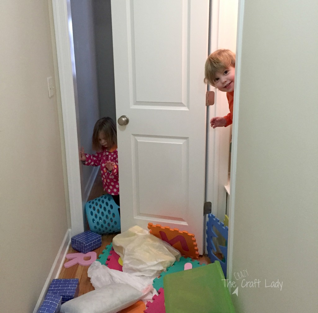 "A Playroom in a Closet - the ""before"""