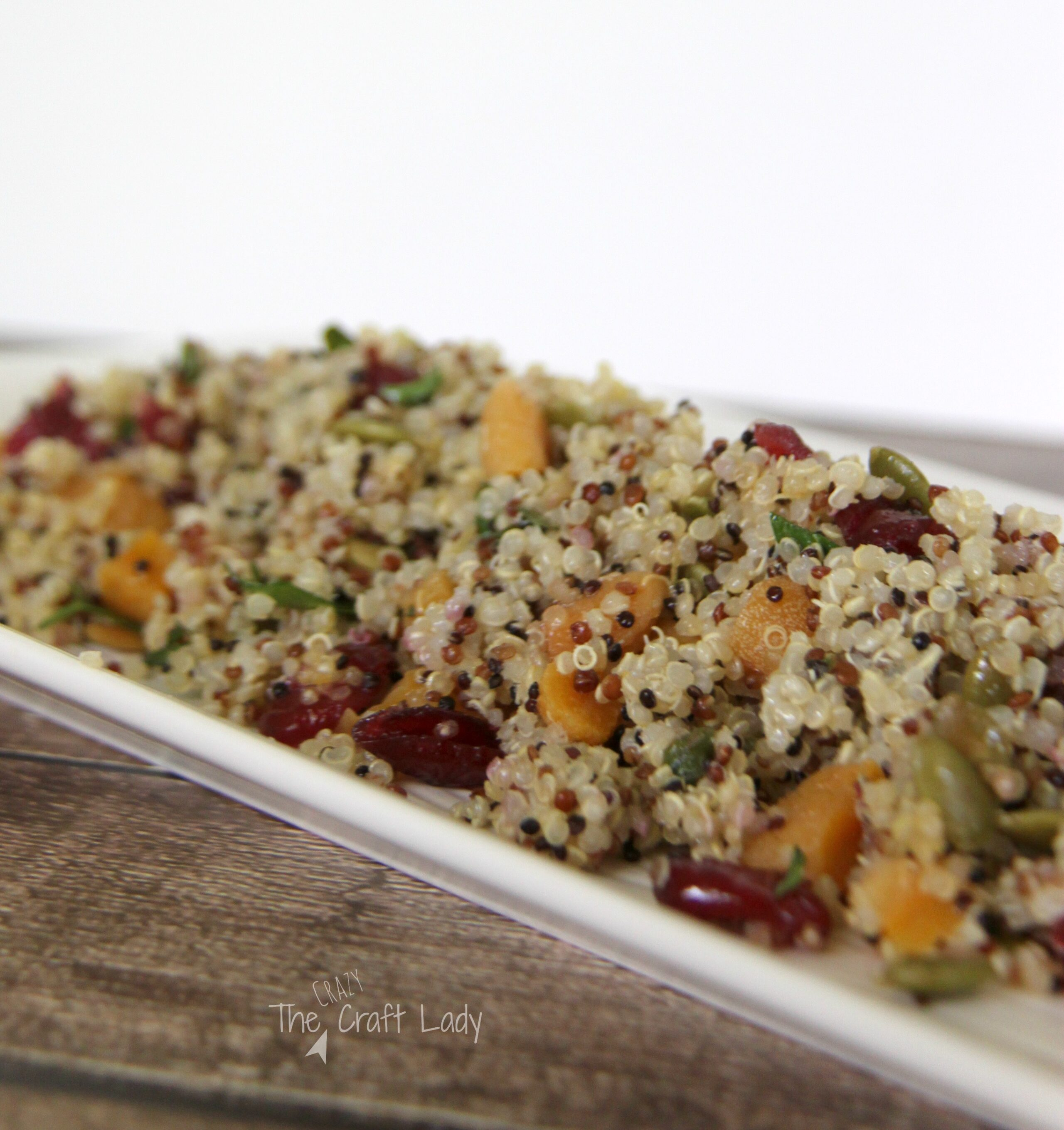 Quinoa Salad with Cranberries, Apricots, and Pumpkin Seeds. This is a perfect summer salad - it's cool and refreshing as well as buffet and potluck friendly.