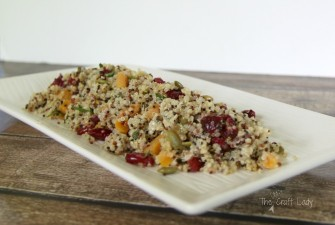 Quinoa Salad with Cranberries, Apricots, and Pumpkin Seeds