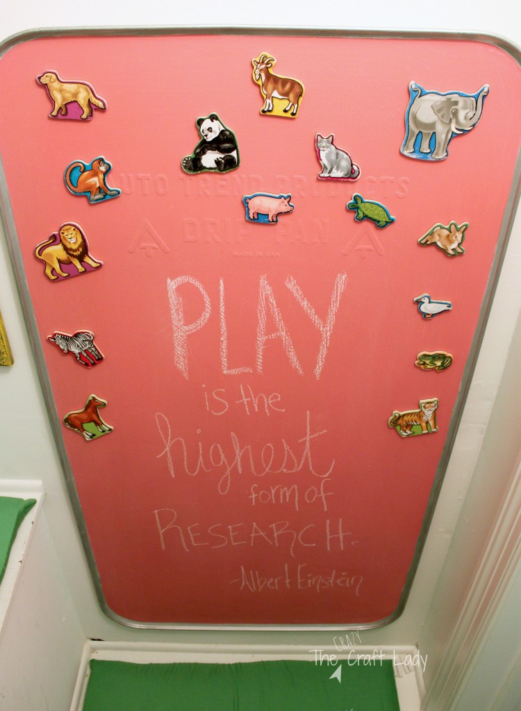 A Playroom in a Closet - she transformed a storage closet into a fully-functional play space for her twins... with a budget of only $120!