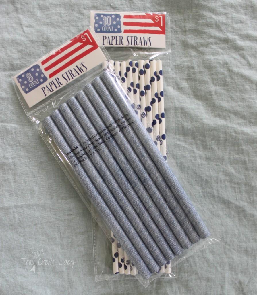 A Paper Straw Firecracker Garland - a quick and easy Summer craft.