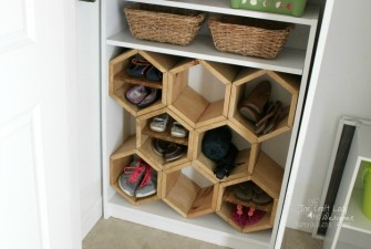 DIY Hexagon Shoe Shelf – A Guest Post