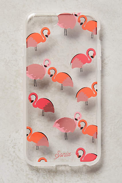 flamingo iPhone case from Anthropologie - $35