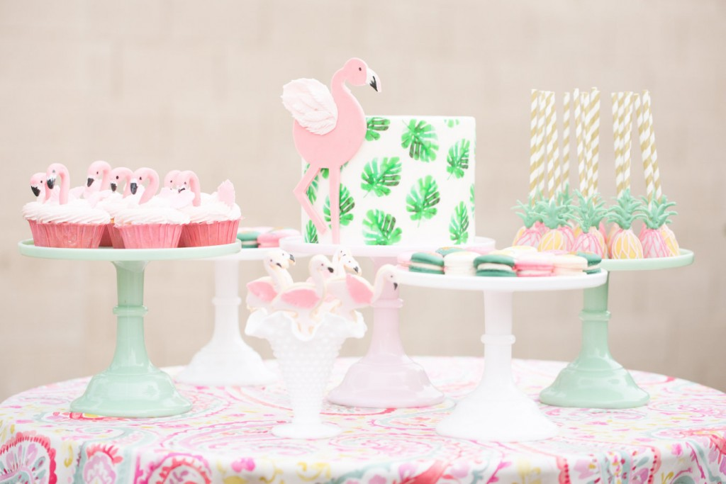 flamingo inspired birthday party from Style Me Pretty
