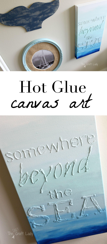 Hot glue canvas art the crazy craft lady for Glue guns for crafts