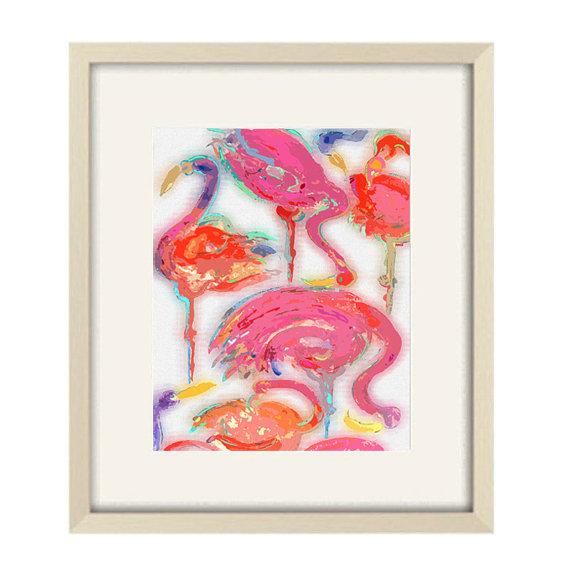 Flamingo Art Print on Etsy - $19.99