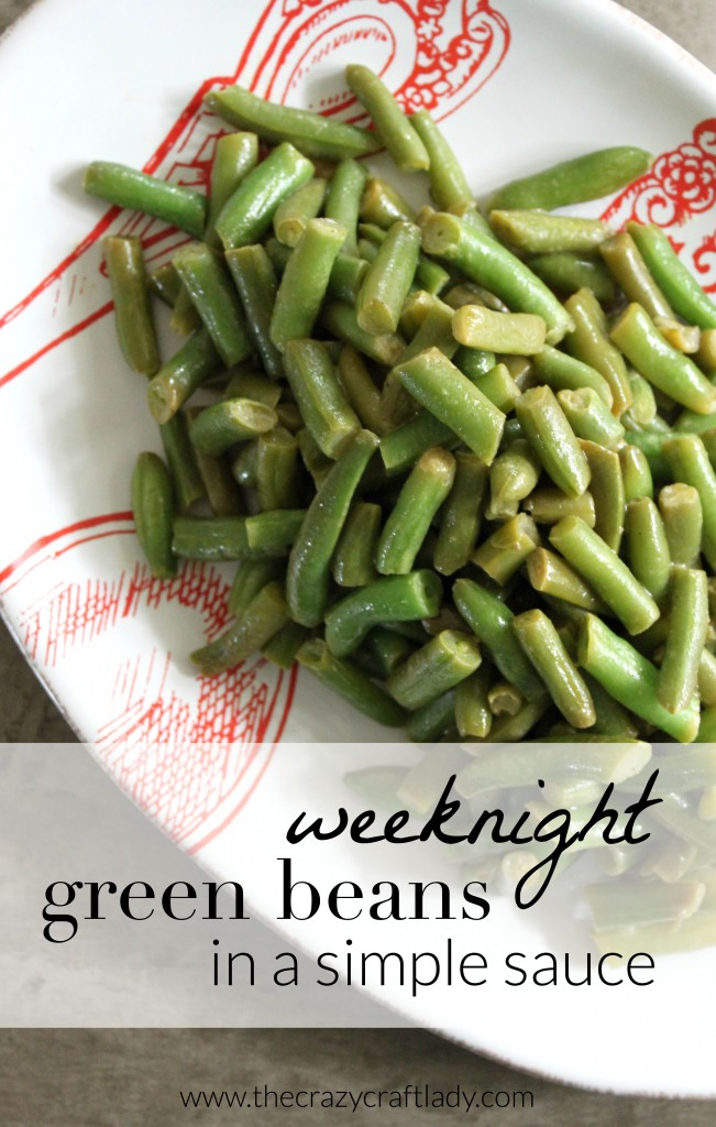 The perfect recipe for weeknight green beans. This recipe takes less than 15 minutes, and the tasty sauce will appease even the pickiest of eaters!