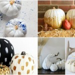 Fabulous DIY gilded pumpkins - metallic pumpkins for fall decor inspiration